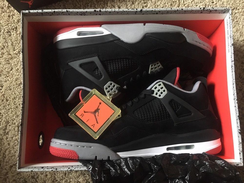 4d251735b9a816 ... Athletic Shoes by Alyce Golub. FREE SHIPPING 2012 Nike Air Jordan 4 IV  Retro Size 13 BRED AJIV Spike Lee cdp