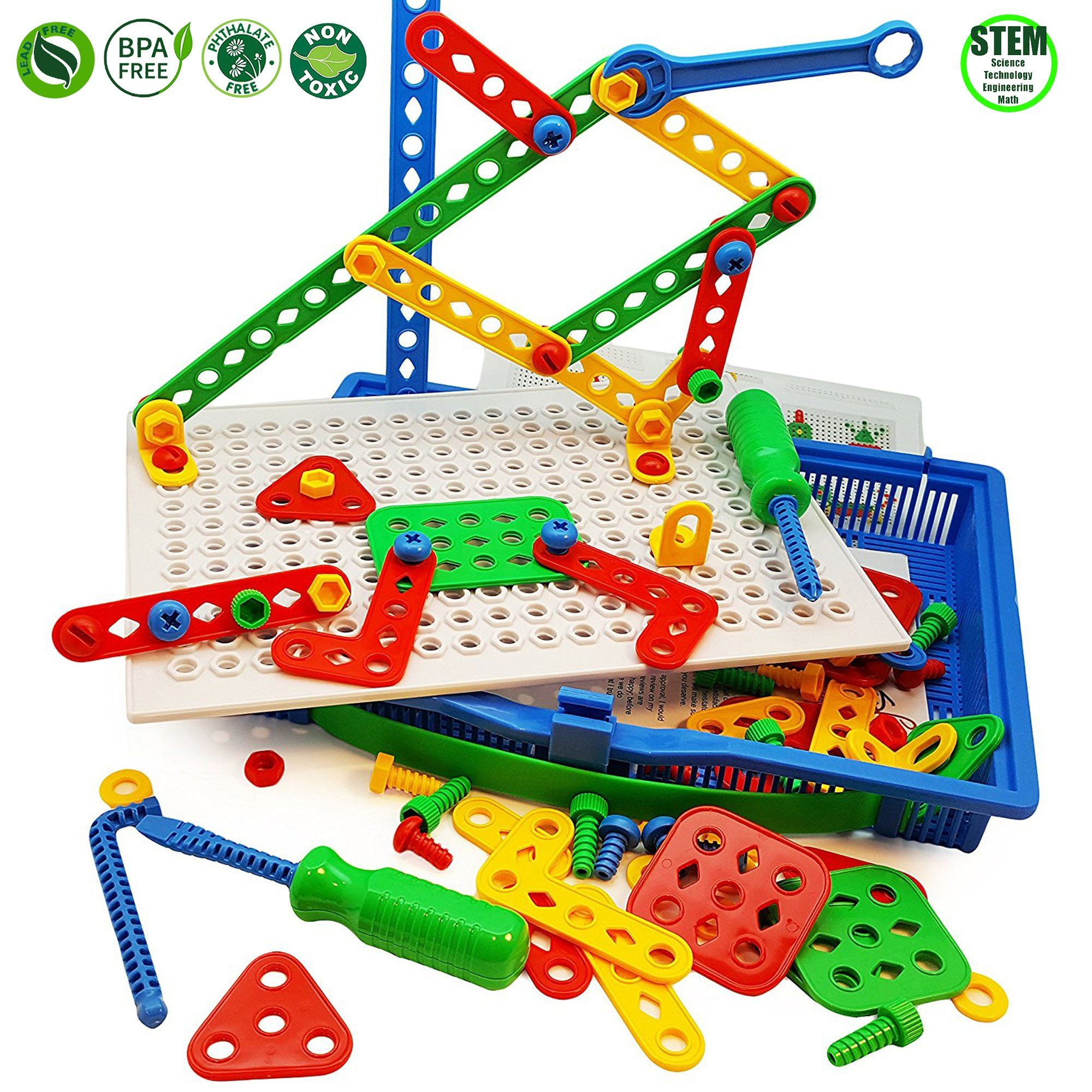 Imagination Creative Building Blocks Assembly Construction Toy Screws Nuts Tools