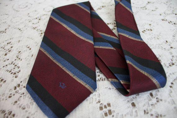 Vintage Christian Dior gestreift Krawatte von SydneysVintage