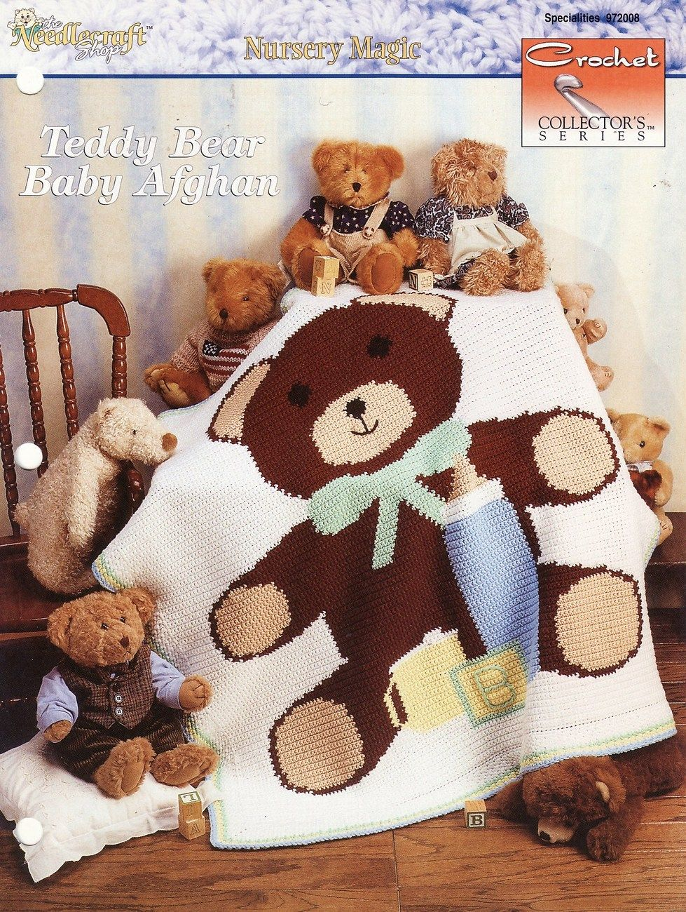 Teddy Bear Baby Afghan Crochet Pattern Blanket Infants Shower Gift ...