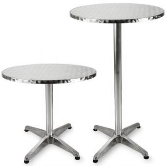 table de bar table haute bistrot aluminium table ronde acier inox_0 - Table Ronde Bar