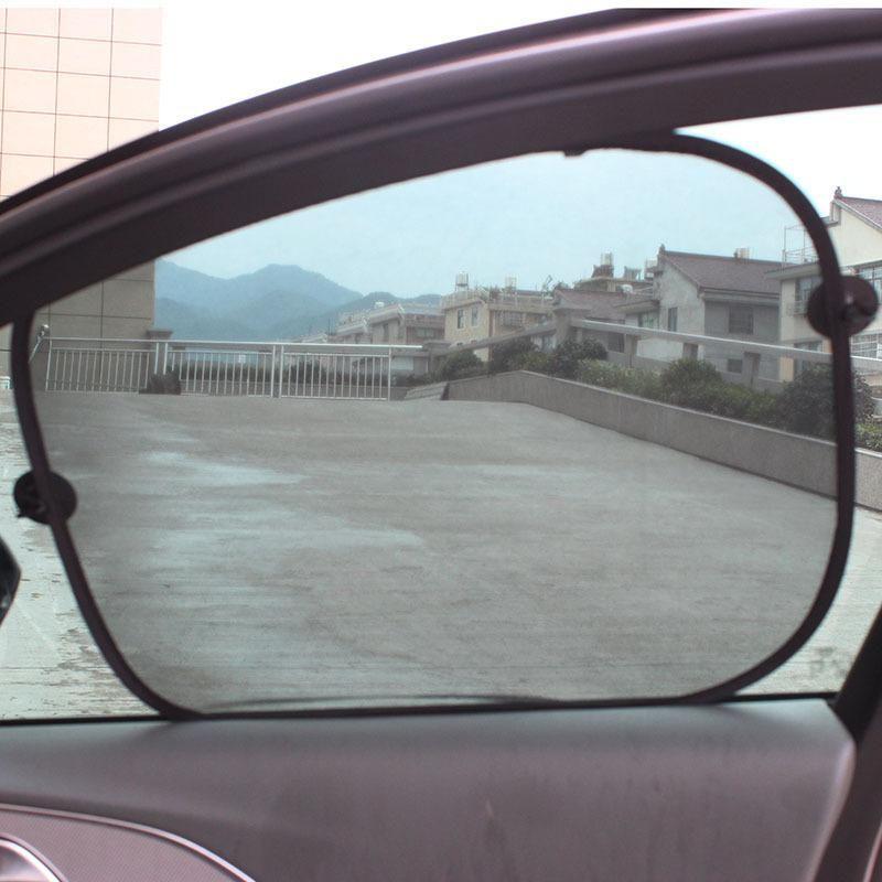 45*36.5cm Car Window Sunshade Curtain Black Side Rear