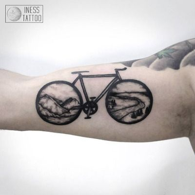 Iness Tattoo Tattoo Pinterest Tattoos Bicycle Tattoo Et Bike