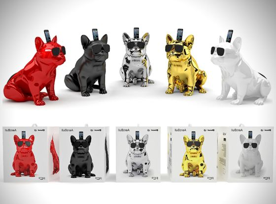 jarre aerobull iphone enceintes bluetooth au design de chien bulldog pinterest sans fil. Black Bedroom Furniture Sets. Home Design Ideas