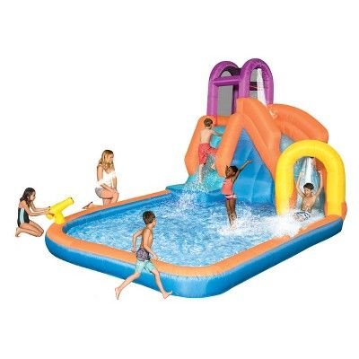 Find Product Information Ratings And Reviews For Magic Time Mega Tornado Twist Online On Target Com Inflatable Water Slide Splash Pool Water Slides