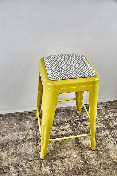 Custom Upholstered Tolix Style Stool Cushions Add On