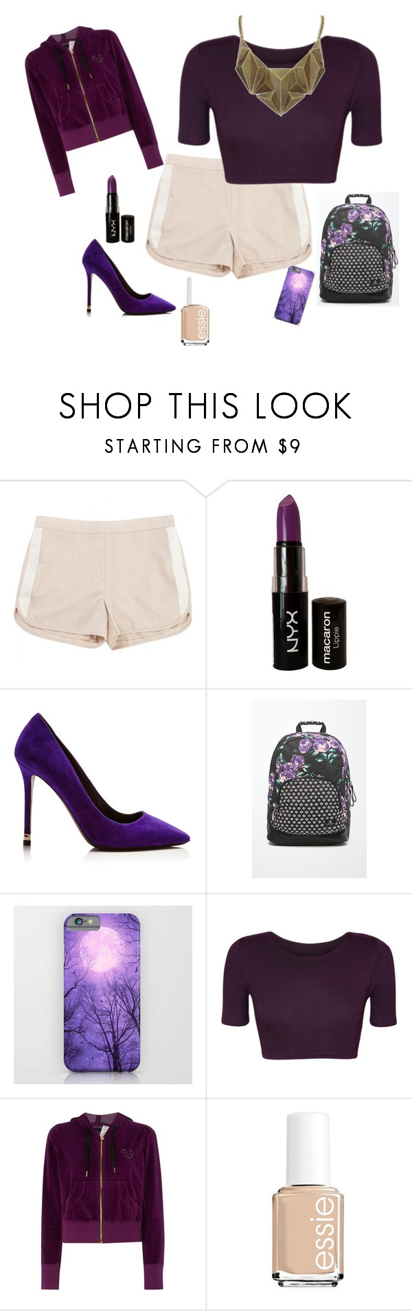 """""""purple"""" by book-writer2002 on Polyvore featuring Tommy Hilfiger, NYX, Nicholas Kirkwood, Volcom, WearAll, True Religion, Essie and Chicnova Fashion"""