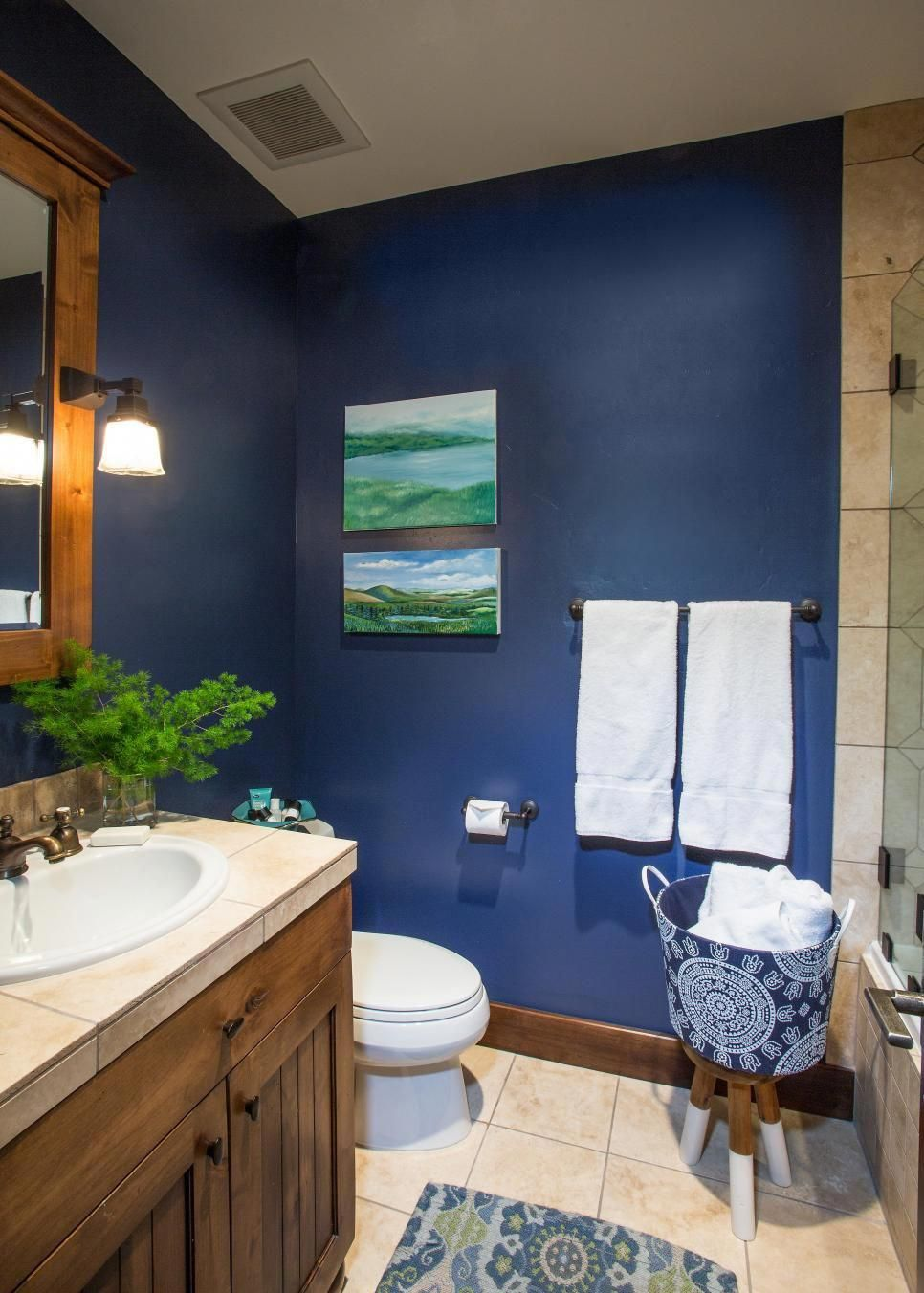 Yellow And Navy Bathroom Blue Bathroom Decor Yellow Bathroom Decor Blue Bathroom Walls