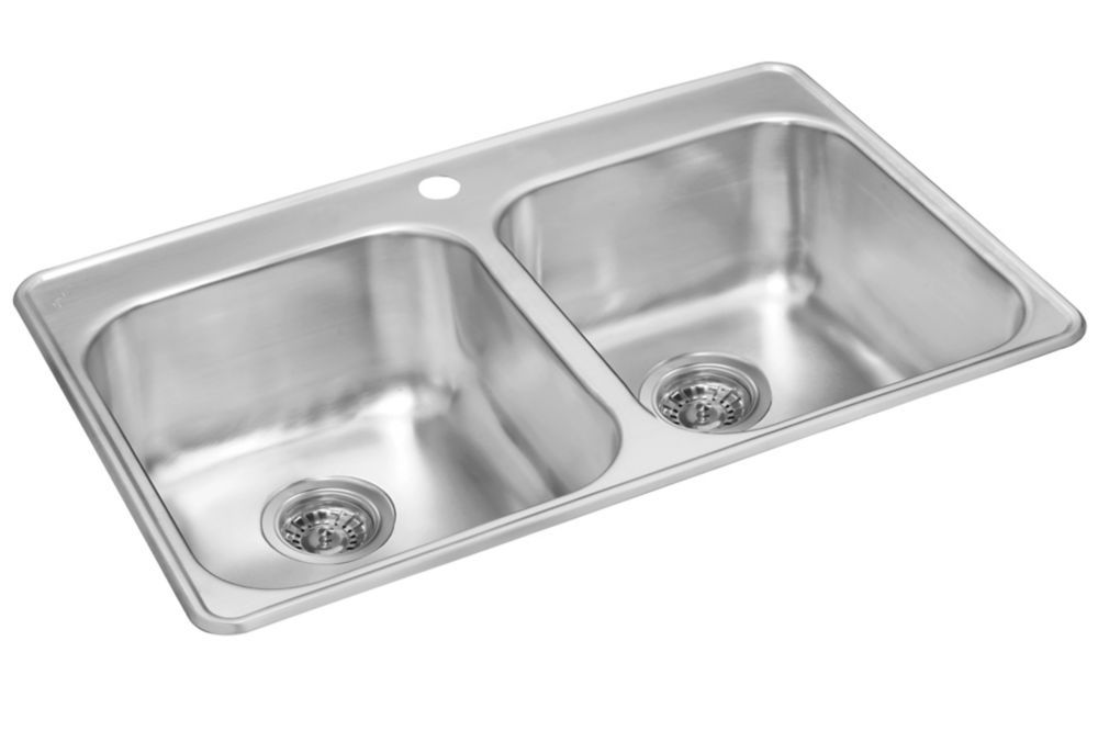 Double Bowl Drop In 32 Inch X 21 Inch X 8 Deep Drop In Kitchen Sink Sink Drop In Sink