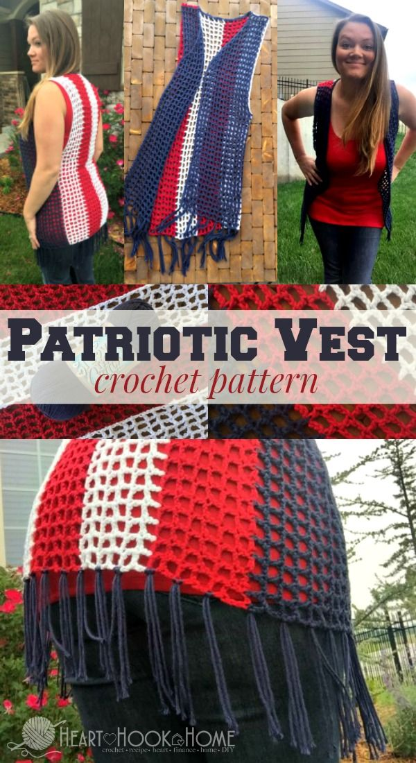 The Cutest Patriotic Crochet Vest Pattern Crochet Vest Pattern