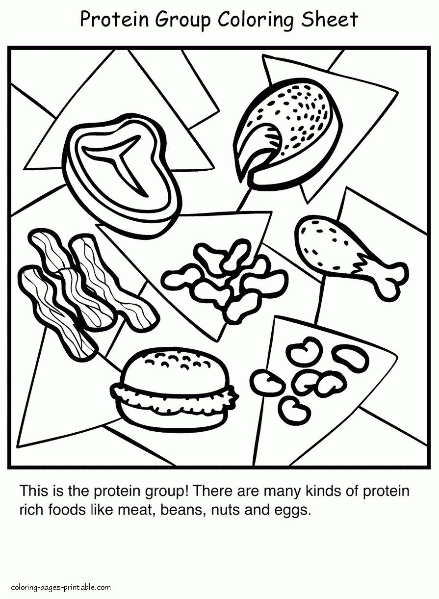 Pretty Photo Of Healthy Food Coloring Pages Davemelillo Com Food Coloring Pages Super Healthy Recipes Cool Coloring Pages
