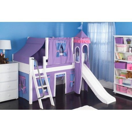 Available in different wood finishes and Fabric colors for girls & boys.  Maxtrix Loft beds & Bunk Beds are modular, and can be reconfigured by adding or removing Components