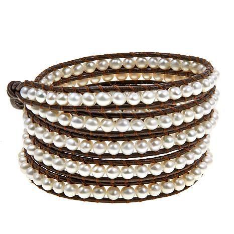 962db2c12f2db Chan Luu Cultured Freshwater Pearl Wrap Bracelet
