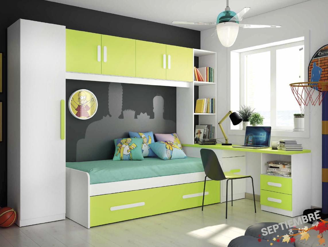 Dormitorios Juveniles Sencillos Modernos Llenos De Color A Los  # Muebles Huguito
