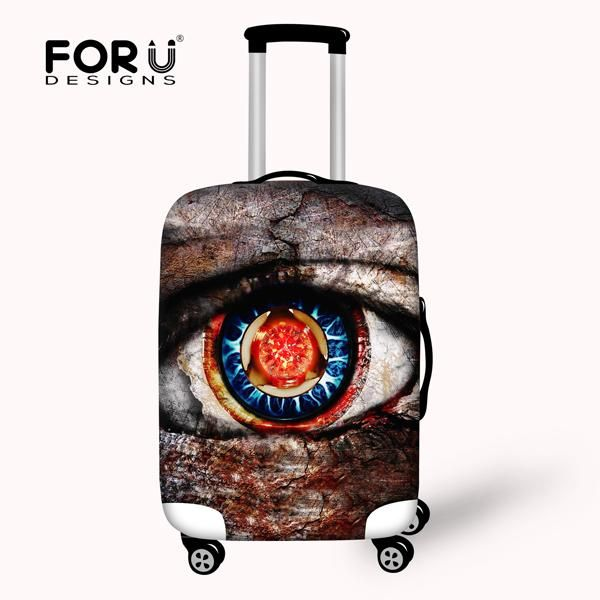 Elastic Luggage Cover for 18-30 Inch Trolley Suitcase Waterproof Luggage Protective Covers Zip Big Eyes Travel Rain Cover