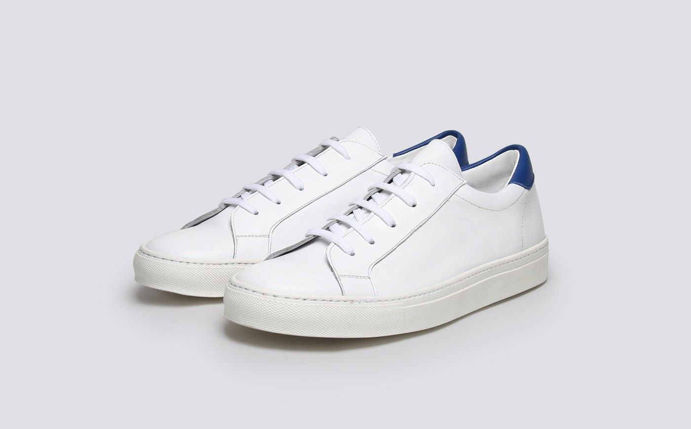 Trainers In White Leather - White Grenson ljzUvLk09
