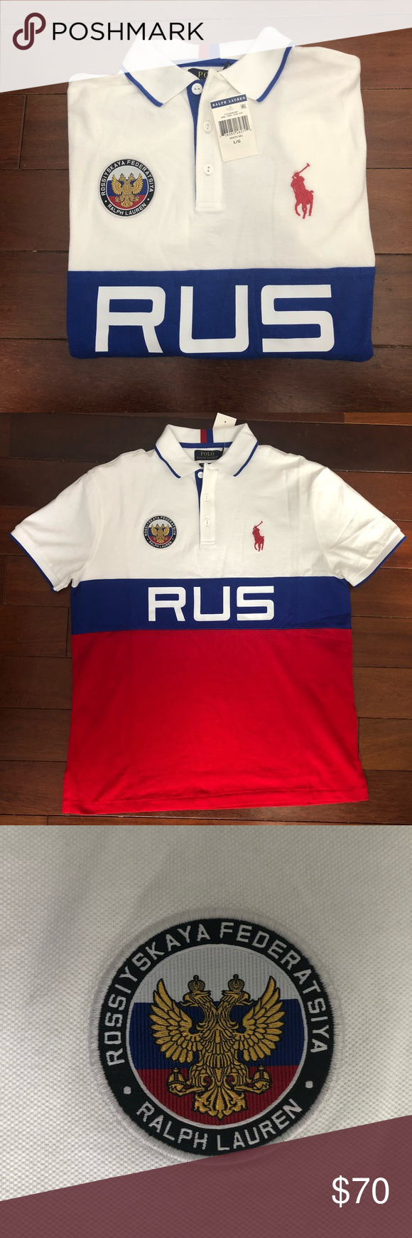 New Tags Men's Brand With Ralph Lauren Polo Russia thrdsQC