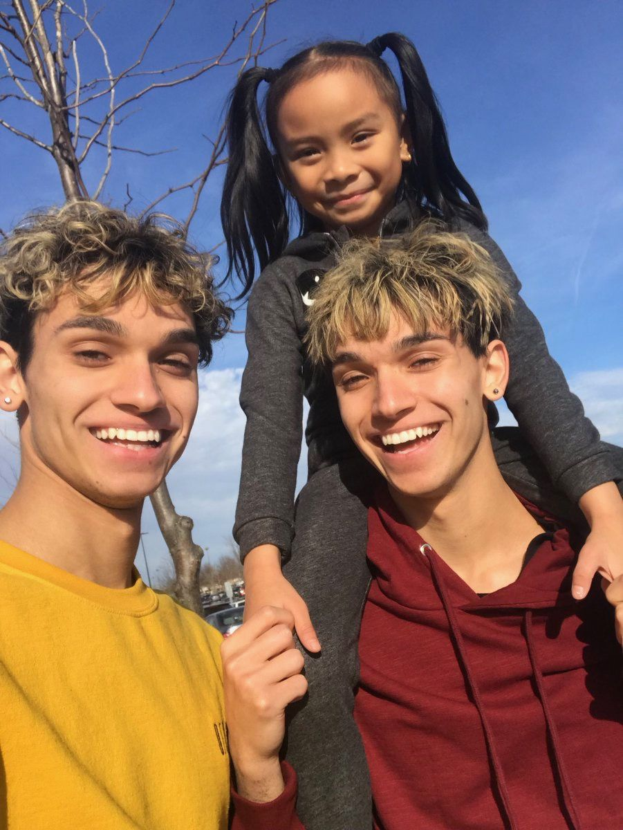 Lucas And Marcus With Their Little Sister Demi Marcus