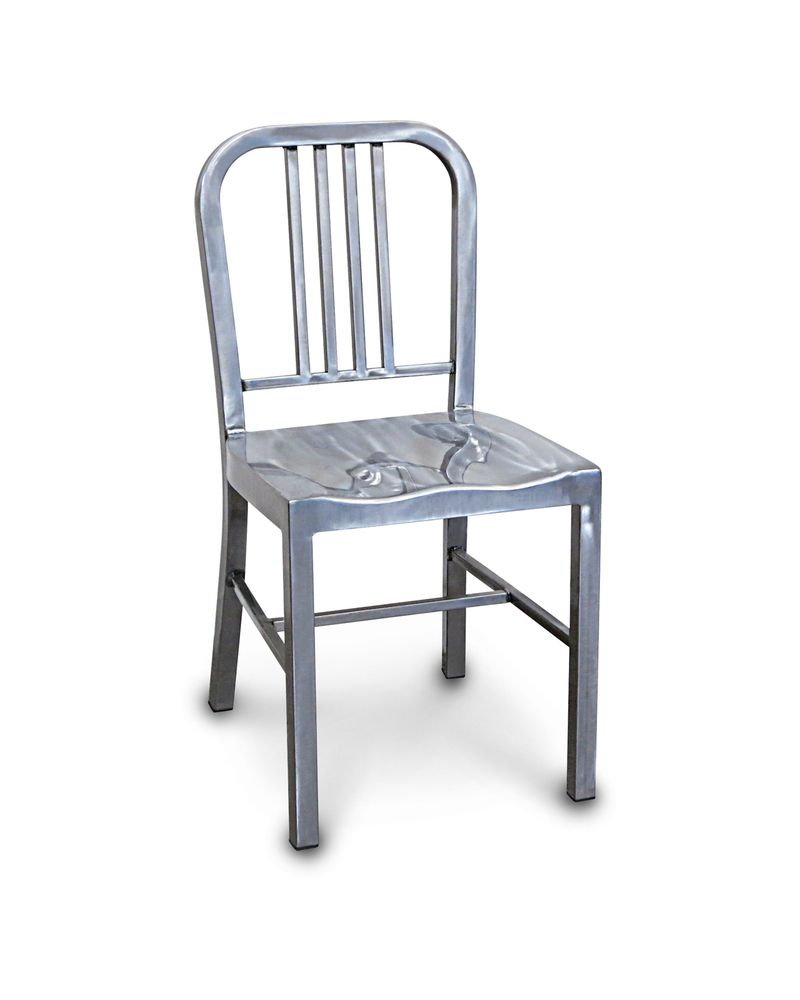 navy replica steel chair raw metal varnish cintesi dining room