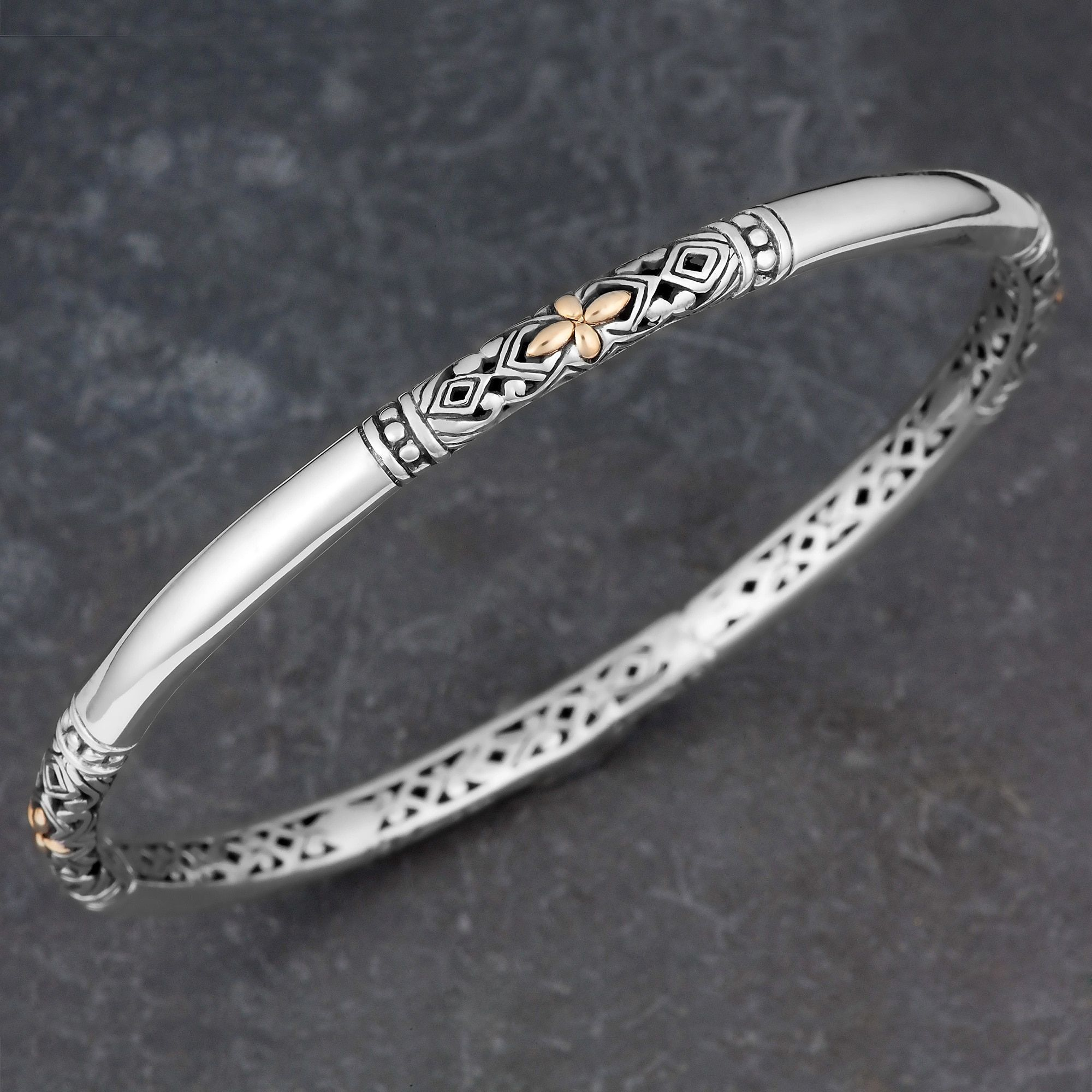 cross diamond bangle silver product konstantino gold bangles bracelets sterling gallery jewelry lyst bracelet and