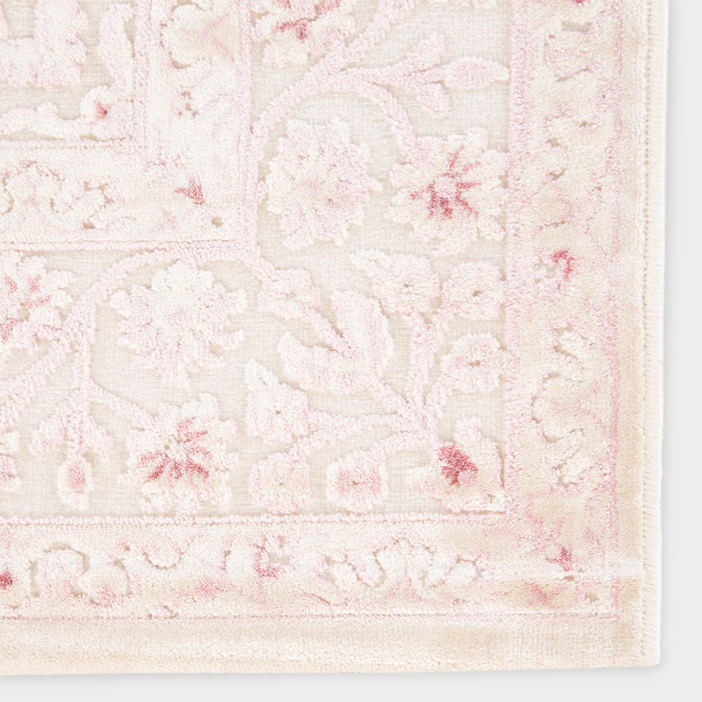 Pale Pink And White Medallion Hasna Area Rug World Market In 2020 Pink Nursery Rug Girls Room Rugs Nursery Rugs Girl