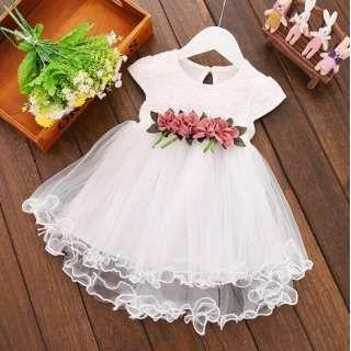 Vestido tul blanco niрів±a