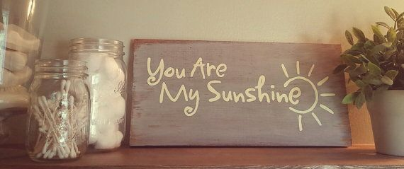 You are my sunshine wood sign by TheRusticMelonDesign on Etsy