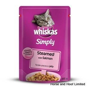 Whiskas Pouch Simply Steamed Salmon Cat Food 28 X 85g Salmon Cat