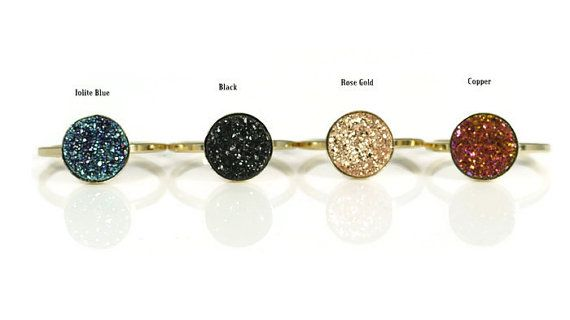 14k Gold-filled Druzy Ring Healing Stone by AdmirableJewels