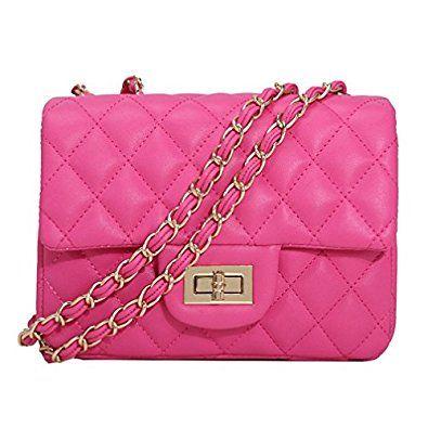 bd7ba67e570b TOYU S Lady Small Gold Chain Quilted Shoulder Bag Mini Cross Body Women  Handbag Clutch Classic