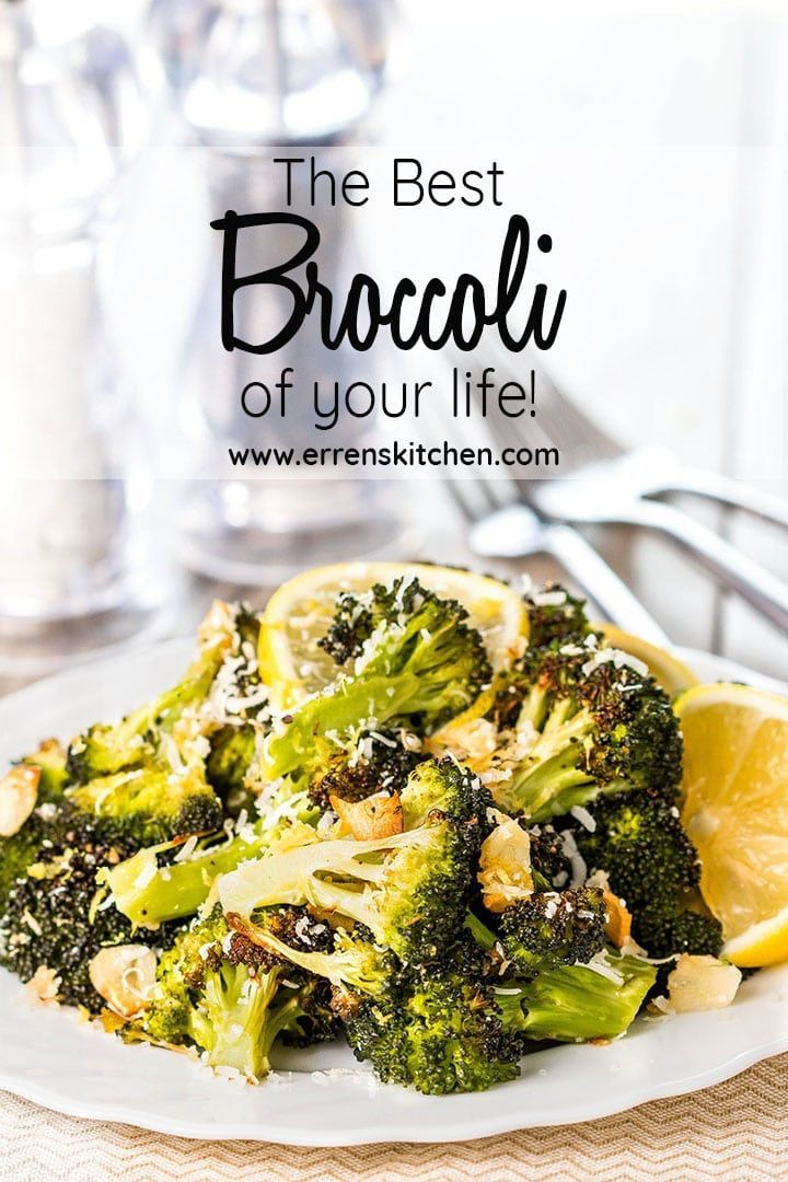 The Best Broccoli of Your Life! Roasted Fresh Broccoli with garlic, lemon, and Parmesan Cheese, thi