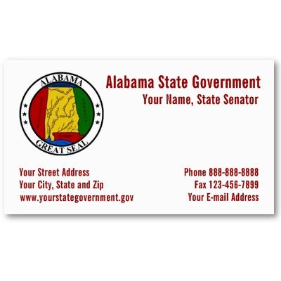 Alabama State Seal Government Business Card Business Card Design