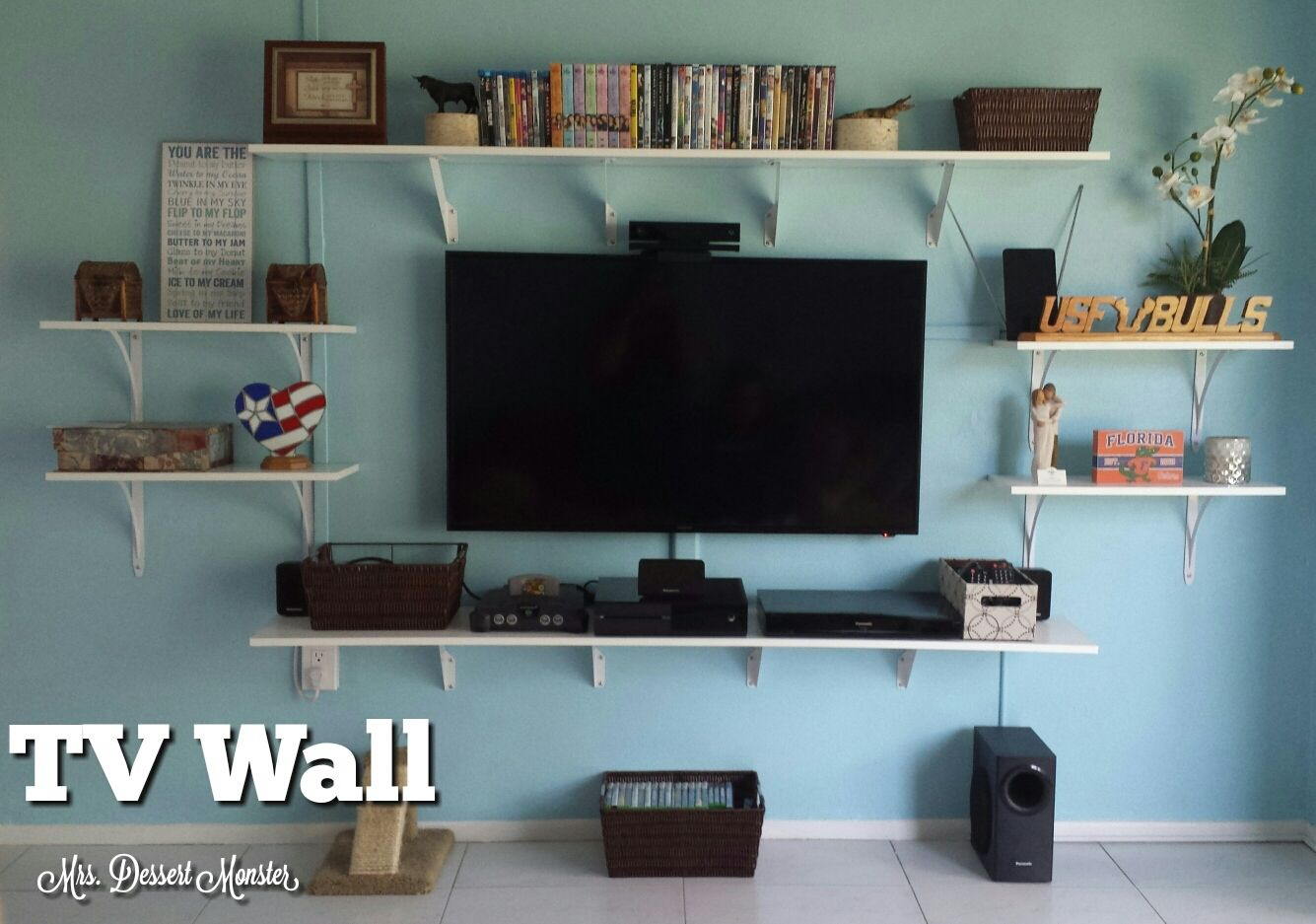 Unique Wall Shelves Around Tv 50 On Octagon Wall Shelves ...