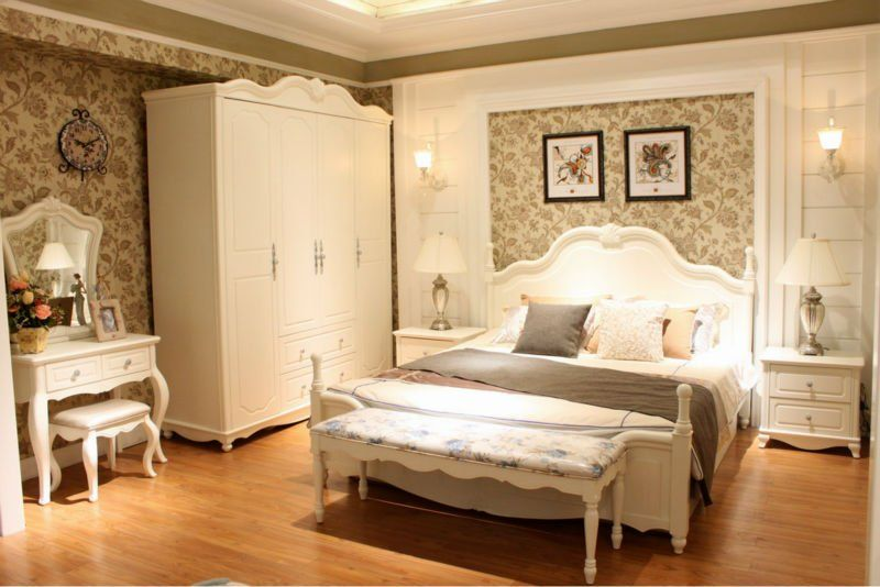Classic design korean style bedroom furniture hongjin for Korean bedroom design