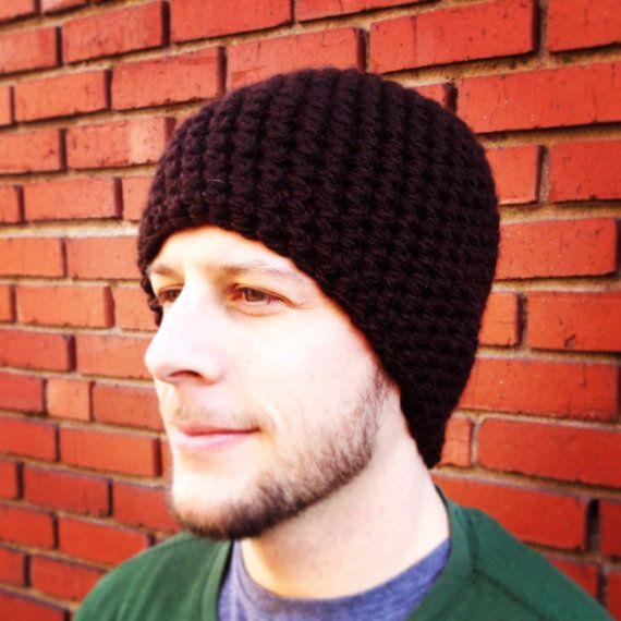 Pattern One Hour Mens Beanie Crochet Pattern Seamless Basic Etsy Crochet Mens Hat Mens Beanie Crochet Pattern Mens Crochet Beanie