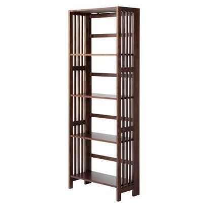 Mission 5 Shelf Folding Bookcase Espresso Target 129 99
