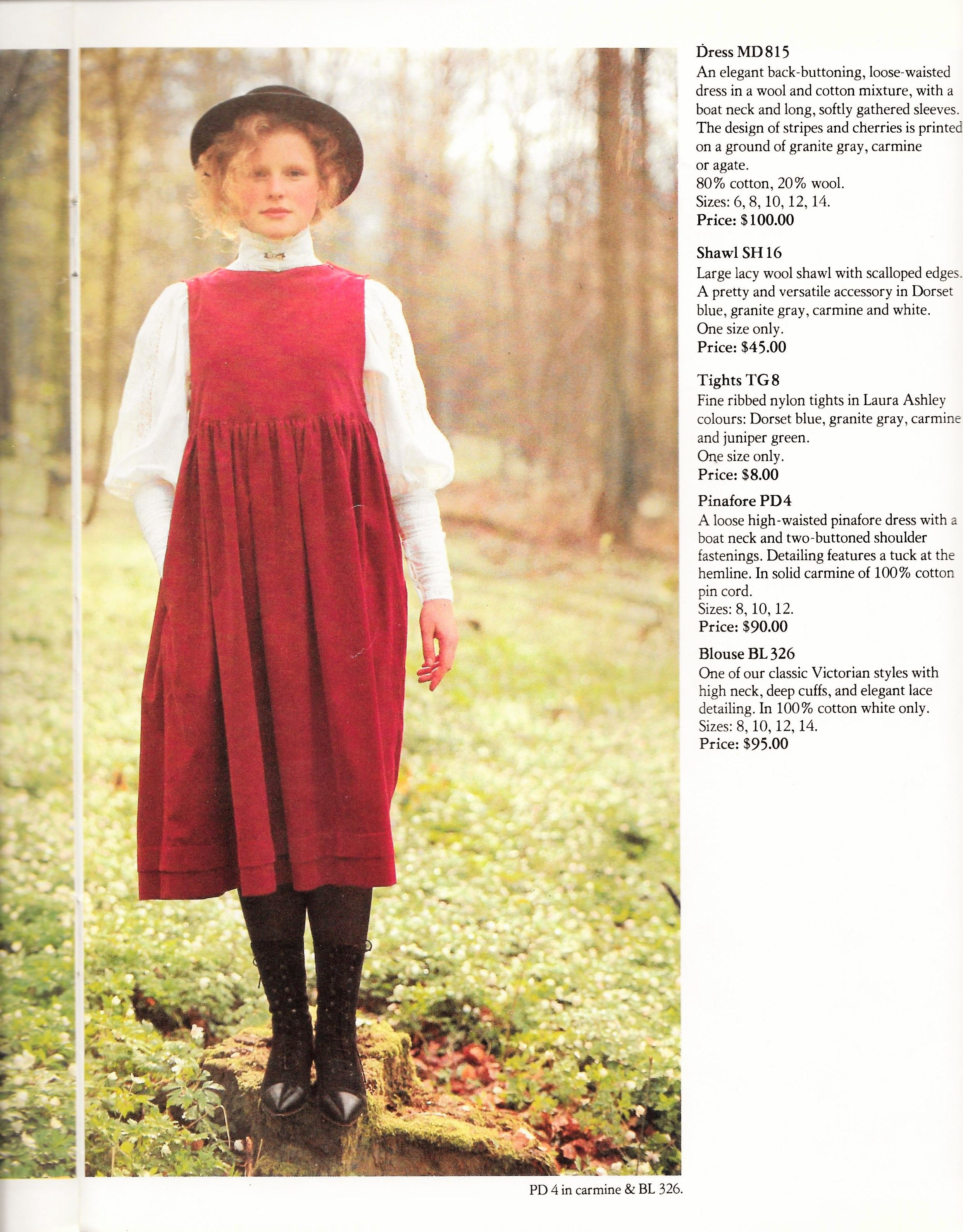 laura ashley 1983 autumn winter fashion catalog skirty. Black Bedroom Furniture Sets. Home Design Ideas