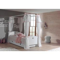 Photo of Set Amori best. aus: Himmelbett, Bettschublade und Textil-Vorhang, Weiß Vipack