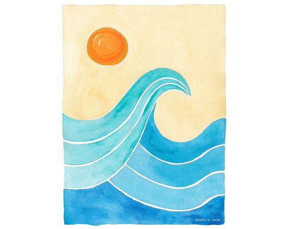 Wave Art - Surf Art - Beach Art - Surf Theme - Colorful Waves - Beach House