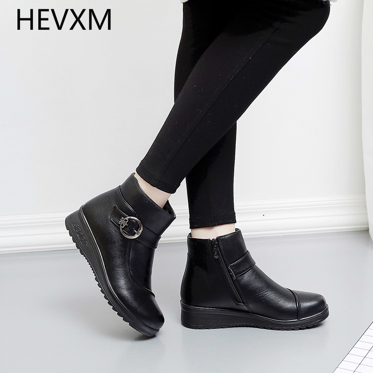 19.84$  Watch here - http://alihv4.shopchina.info/go.php?t=32780531019 - HEVXM 2017 winter new tenis zapatos cattle cotton women's cotton shoes snow boots large flat bottom plus velvet warm boots 19.84$ #buyininternet