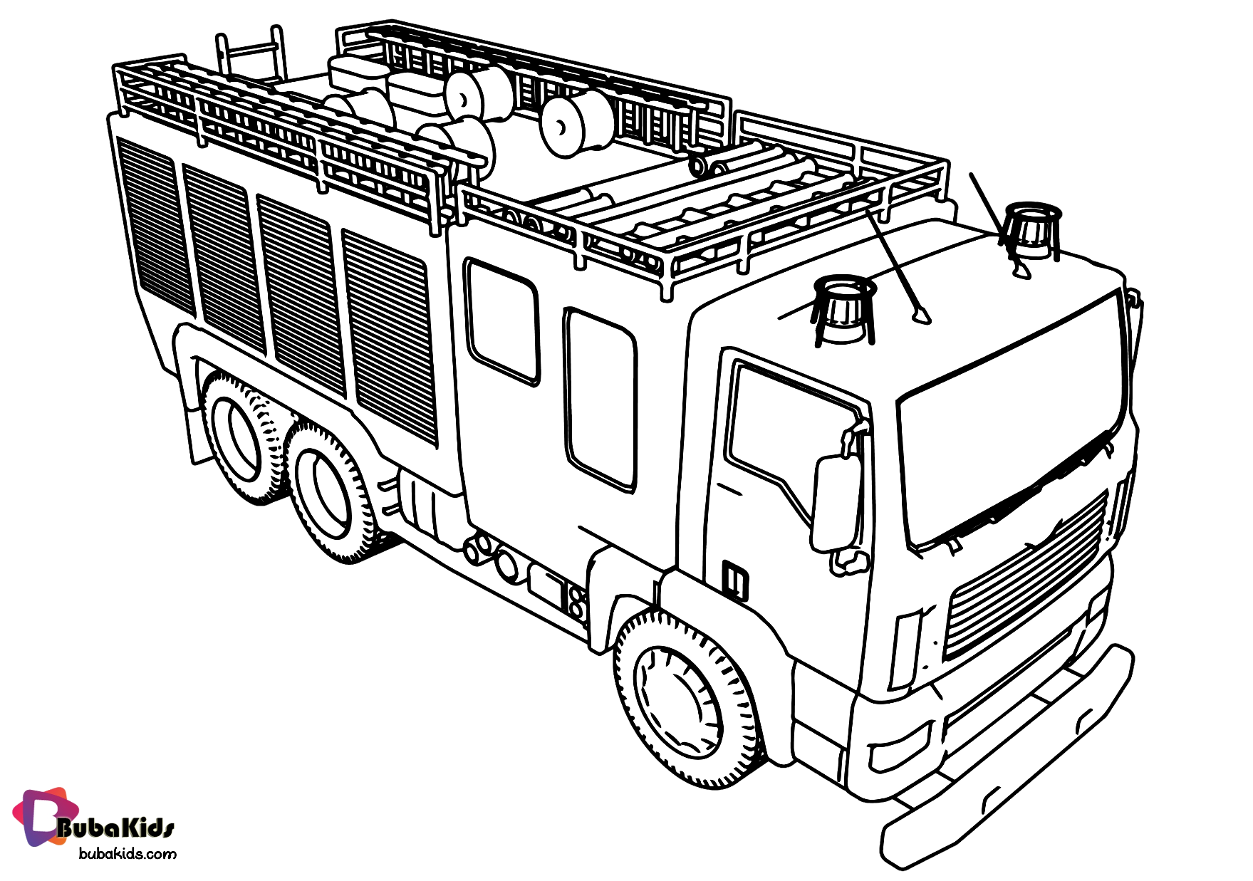 Fire Truck Fire Engine Coloring Page Collection Of Cartoon Coloring Pages For Teenage Printable Truck Coloring Pages Monster Truck Coloring Pages Fire Trucks