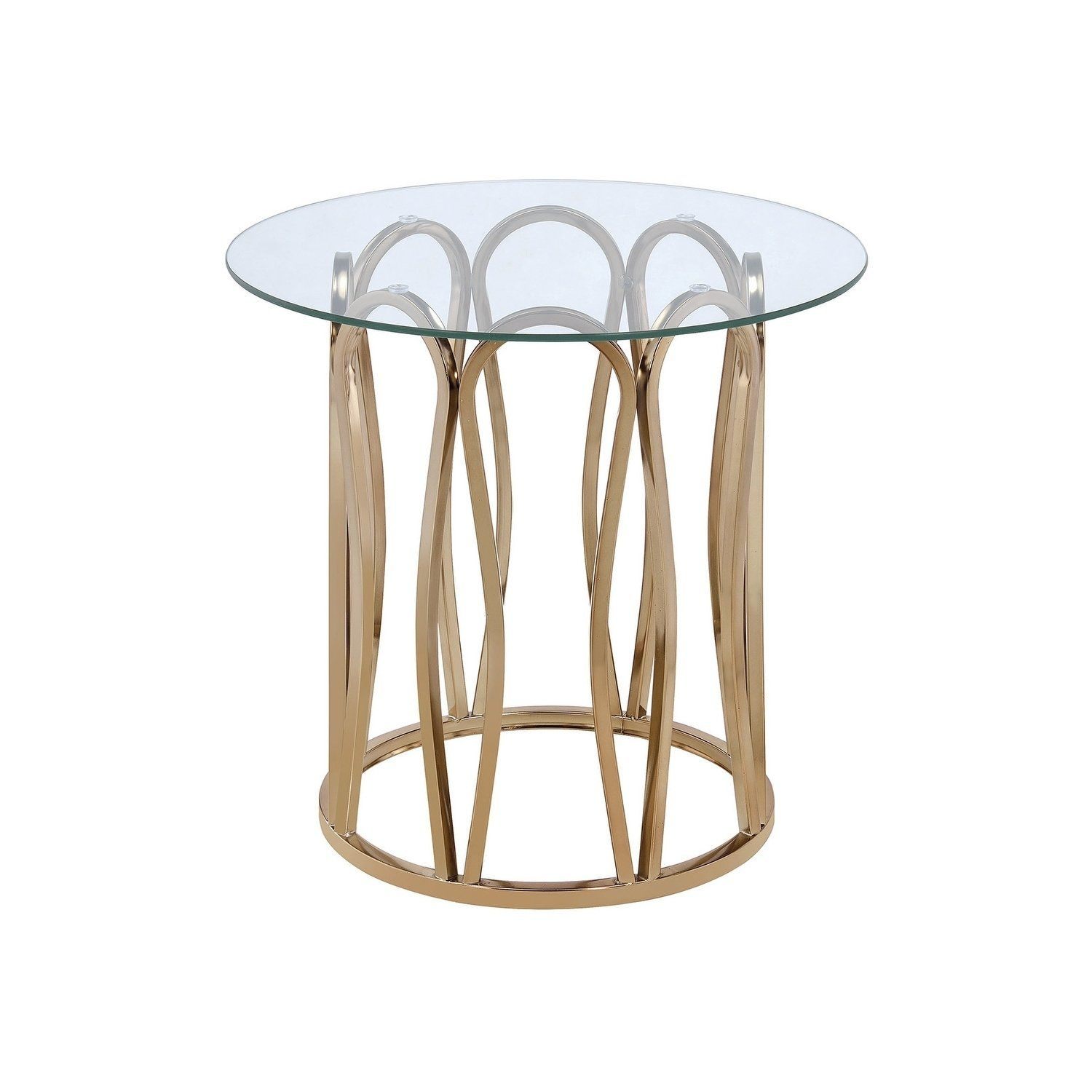Ophelia Metal And Glass End Table Brown In 2019 Products