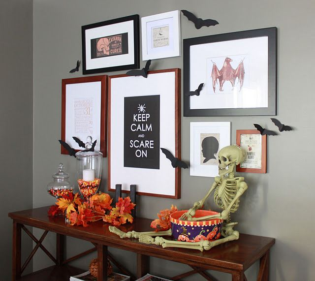 Framed Halloween printables. All found on pinterest! Love this!