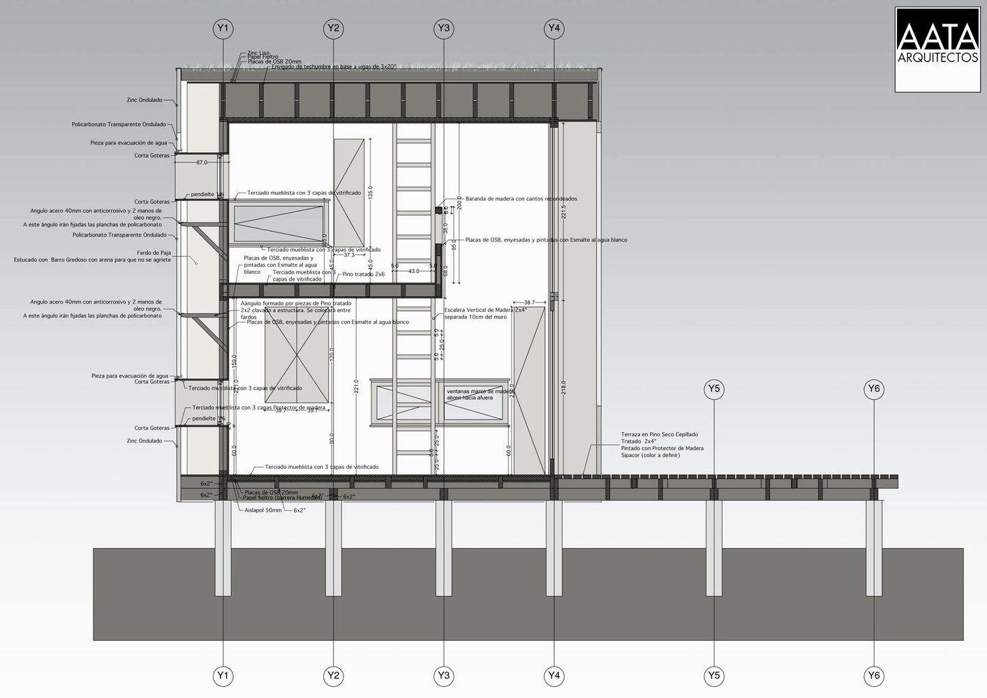 Galer a de en detalle cortes constructivos estructuras - Estructuras metalicas para casas ...