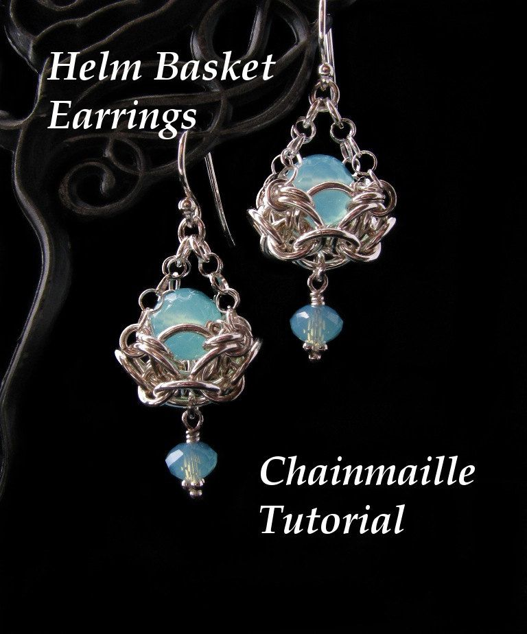 Chainmaille Tutorial for Helm Basket Earrings PDF Instructions ...