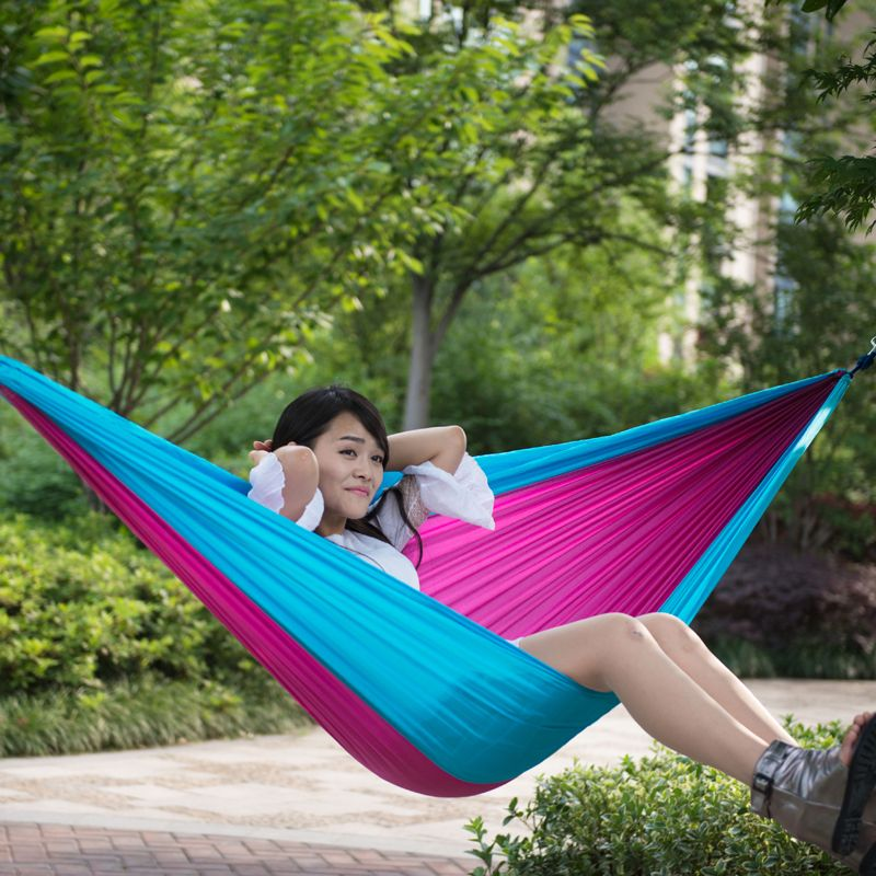 cheap 2 people hammock buy quality fabric hammock directly from china hammock camping suppliers  2 people hammock camping survival garden hunting leisure     260 140cm outdoor double hammockcamping survival parachute cloth      rh   pinterest