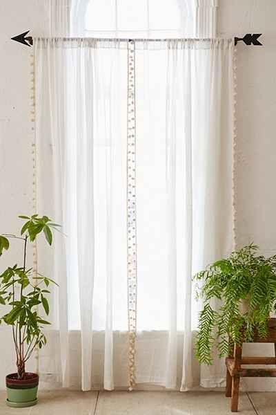 Pompom Curtain Urban Outfitters Curtains Arrow Decor Magical