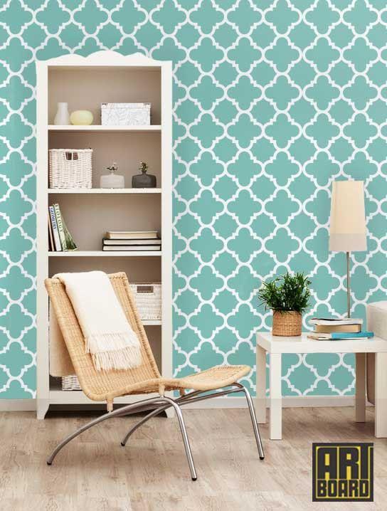 Quatrefoil Self Adhesive Diy Wallpaper Home Decor Interior