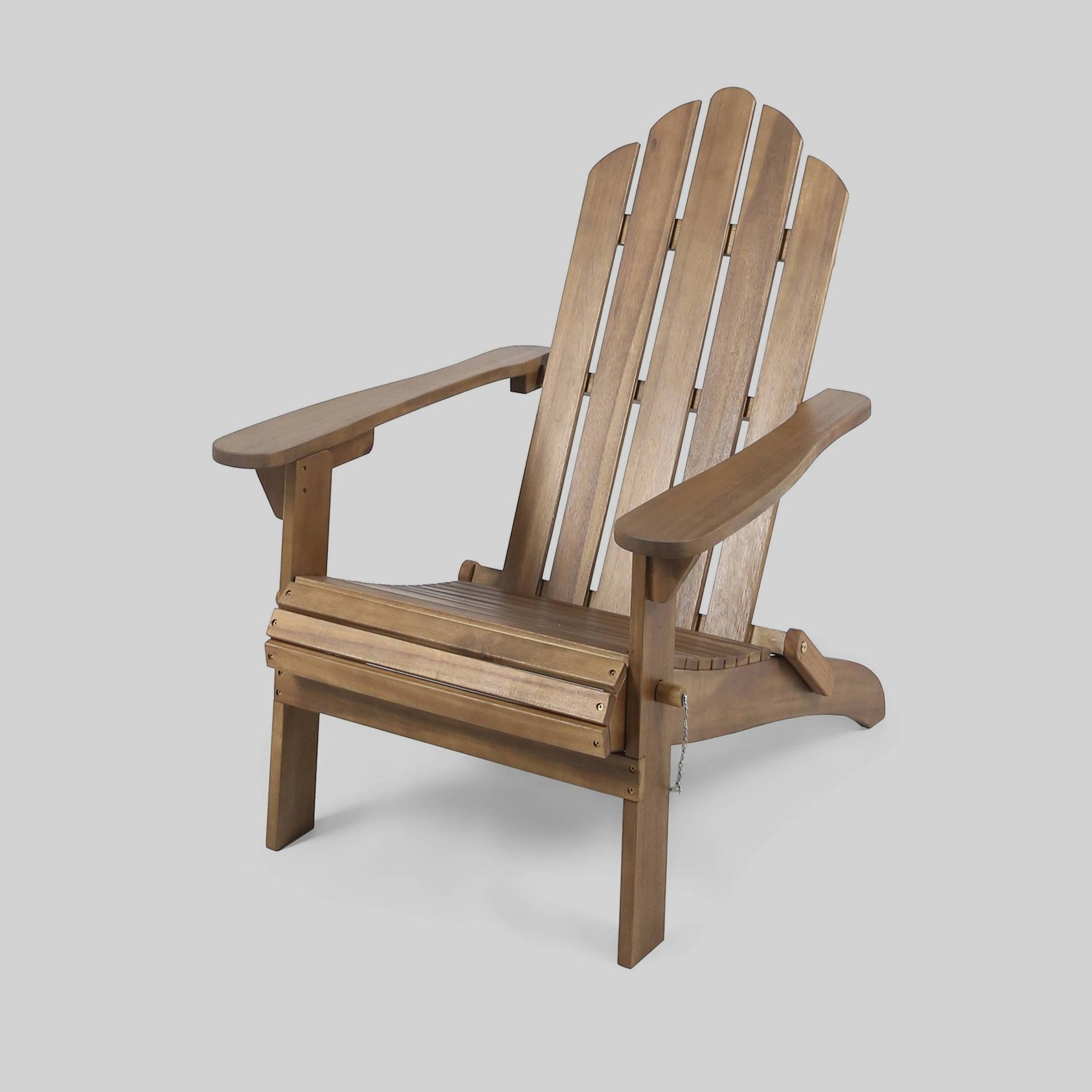 Hollywood Acacia Wood Foldable Patio Adirondack Chair Brown