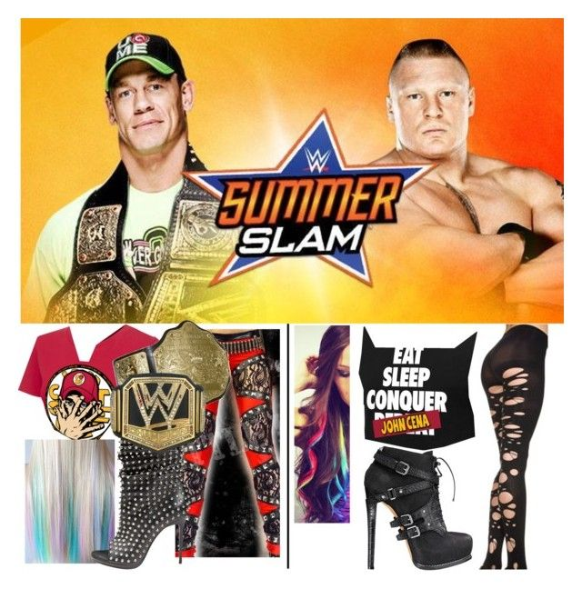 """""""SummerSlam! ON NOW!!!!! John Cena Vs Brock Lesnar!!!"""" by imblissedoff ❤ liked on Polyvore featuring CENA and Christian Louboutin"""